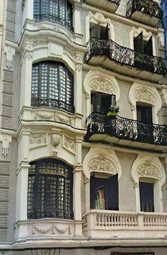 Fachada Art Nouveau, Atocha 47, Madrid
