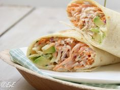 wraps with smoked chicken