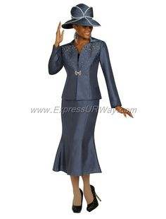 GMI G4833 Charcoal - Womens Church Suits