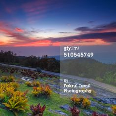 Sunset view from Mount Jerai, Kedah, Malaysia. Mount Jerai is the highest mountain in the Malaysian state of Kedah with the height of 986 metres (3,235 ft).