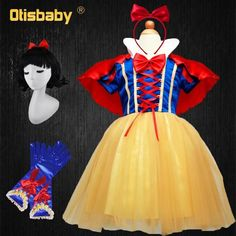 OTISBABY 4 layers Snow White Cosplay Dresses for Girls Party Princess Dress Children's Tulle Dress Baby Girl Tutu Dress Infant Wholesale Clothing Online Store. We Offer Top Good Quality Cheap Clothes For Women And Men Clothing Wholesaler, # Girls Tutu Dresses, Wedding Dresses For Girls, Tutus For Girls, Disney Baby Costumes, Girl Costumes, Baby Girl Tutu, Baby Dress, Dress Girl, Baby Girl Christmas Dresses