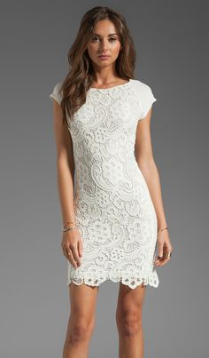 Shop for Rebecca Taylor All Lace Dress in Cream at REVOLVE
