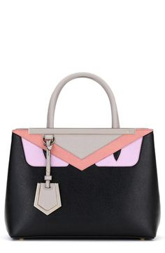 Fendi 'Petite 2Jours - Monster' Saffiano Leather Satchel available at #Nordstrom
