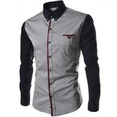 Cheap casual male shirts, Buy Quality male shirt directly from China male shirt brands Suppliers: Camisa Masculina 2017 Autumn Fashion Shirts Men Casual Brand Clothing Men Shirt Patchwork Long Sleeve Casual Male Shirts XXL Slim Fit Casual Shirts, Formal Shirts For Men, Cotton Shirts For Men, Men Casual, Men Shirts, Casual Wear, Collar Shirts, Chemise Fashion, Mens Shirts Online