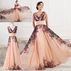 Sexy Women Summer Long Floral Dresses Evening Party Prom Long Gown PROM Sundress #GraceKarin #BallGown #Cocktail