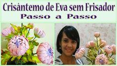 CRISÂNTEMO DE EVA SEM FRISADOR  - PASSO A PASSO