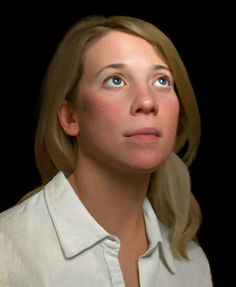 Becky by Scott Waddell. Oil on canvas Uber realistic portraits