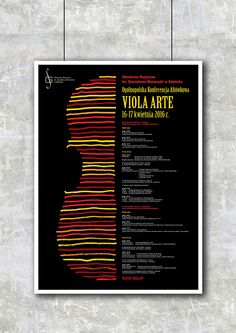 poster, music, academy, viola, violin, instrument, drawing, handdrawn, polishposter
