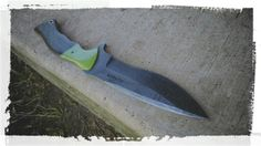 Jake DeBaud custom handmade tactical fighting knife made from A2 Tool Steel