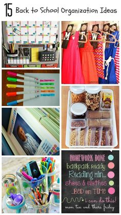 15 Back to School Organization Ideas for Home and Office