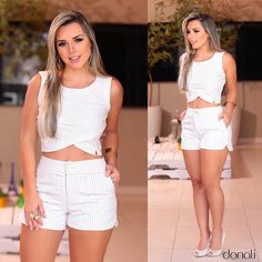 Um amor chamado: CONJUNTINHO ❤️ e esse então...✨ Summer Outfits, Casual Outfits, Fashion Outfits, Womens Fashion, The Perfect Girl, Simple Girl, Native American Fashion, Crafts For Girls, White Shorts