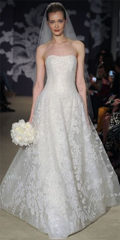 Carolina Herrera Spring 2015 Bridal Collection - Carolina Herrera from #InStyle