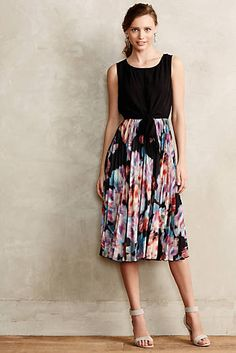 Gouache Roses Midi Dress