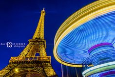 Eiffel Tower and Carousel, Paris, France. Image by David Gutierrez Photography…