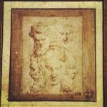 Drawing by Parmigianino, an Italian Mannerist painter. His preparatory drawings are beautiful.