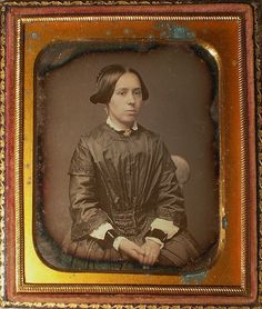 1850 Woman w/Mourning Cuffs