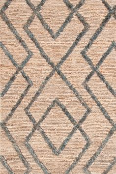Dash & Albert | Marco Juniper Jute Soumak Woven Rug | We're head over paws for this striking original design, with a soumak weave background and cut-pile pattern. Due to the handcrafted nature, some variation in the height of the pile is expected. Available in four color combos.