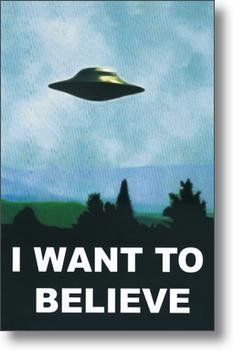 X-Files Poster ~ I Want To Believe ~ Official Fan Club Edition  24x36