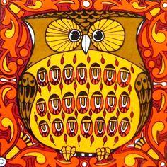 vintage owl tile trivet from Planet Trout