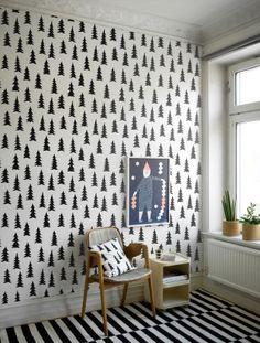 Spruce - White - Fototapeter & Tapeter - Photowall fine little day