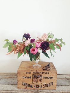 Pink and purple: http://www.stylemepretty.com/living/2015/05/09/17-fabulous-diy-flower-arrangements/