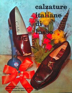 1969 | CALZATURE ITALIANE DI LUSSO magazine [Italian luxury footwear] Shoes by Colette (left) and Olimpic |