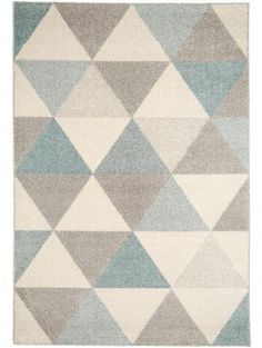 Teppich Pastel Geomet Türkis 140x200 cm