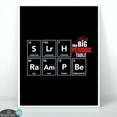 Big Bang Periodic Table (Art Print)