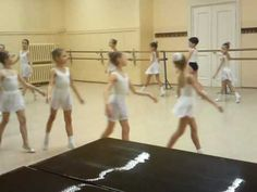 """Very first steps in Academy of Russian Ballet (preparatory class) What I teach to my younger (7-9 year old) students, along with very basic barre exercises, preliminary port de bras and character dance...they love it! The only change here is that when they practice """"pas de polka en arriére """" I have them look away from the leg which is lifting during the hop."""