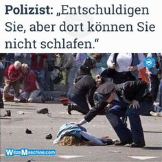 Polizeiwitze - Bewusstlose Frau liegt wohl schlafen - Schwarzer Humor