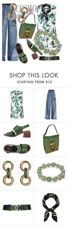 """""""Untitled #273"""" by santyfebrina-nasution ❤ liked on Polyvore featuring Witchery, Dolce&Gabbana, Moma, Maggy London, Chanel, denimtrend and widelegjeans"""