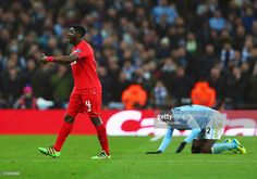 Kolo Toure of Liverpool reacts after a challenge on his brother Yaya Toure of Manchester City during the Capital One Cup Final match between Liverpool and Manchester City at Wembley Stadium on February 28, 2016 in London, England.