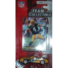 Green Bay Packers 2003 1:64 Mustang Convertible Diecast Collectible with B. Favre Card NFL Toy Car by Upper Deck  $23.79