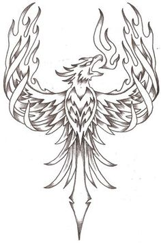phoenix firebird by thelob traditional art drawings other 2010 2015 . Bird Drawings, Tattoo Drawings, Body Art Tattoos, New Tattoos, Sleeve Tattoos, Phoenix Bird Tattoos, Phoenix Tattoo Design, Tribal Phoenix Tattoo, Rising Phoenix Tattoo
