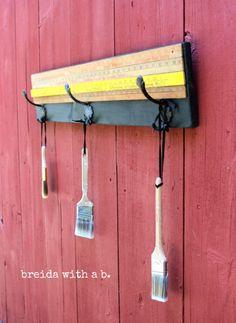 vintage yardsticks with hooks breidawithab.com