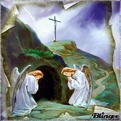 Resurrection of Jesus Christ Angel Pictures, Jesus Pictures, Bible Pictures, Saturday Pictures, Holy Saturday, Easter Saturday, Empty Tomb, Jesus Christ Images, Virgin Mary