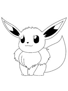 pokemon coloring page to print out and to color picture evoli