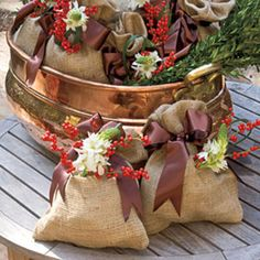 Top Christmas Ideas: A simple vase wrapped in burlap makes for a great gift