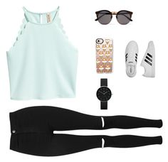 """Untitled #495"" by selise-miles on Polyvore featuring Casetify, adidas, Topshop, Illesteva and Newgate"
