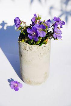 DIY Concrete Vases | Handmade Charlotte