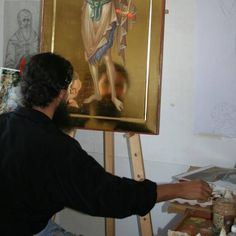 Last year we posted an article about young Romanian iconographers creating traditional icons looking partially to modern art for elements to include in their work. With the spiritual renewal of R… Romanian Revolution, Icon Clothing, Becoming A Monk, Paint Icon, Byzantine Icons, Religious Icons, Orthodox Icons, Sacred Art, Art Studies