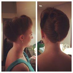 Retro modern hairdo from my friends wedding!