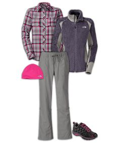Love! Omg The North Face® Women's Hiking Outfit-this looks cozy for weekends out and about