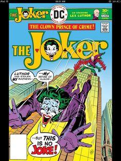 The Joker : The clown prince of crime , comic cover art