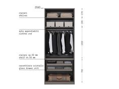 Porro Spa - Organizzare l'interno/ Organize the interior Luxury Wardrobe, Walk In Wardrobe, Wardrobe Design, Walk In Closet, Shelf Furniture, Built In Furniture, Italian Interior Design, Decor Interior Design, Clothes Rod