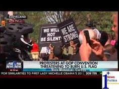Protesters At GOP Convention Threatening To Burn U.S. Flag - Cavuto | 1Plus News