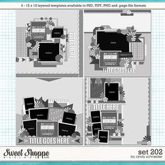 Cindy's Layered Templates - Set 202 by Cindy Schneider