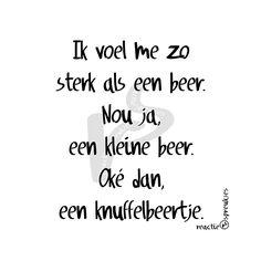 Knuffelbeertje #beer #sterk #lief