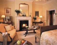 A Traditional styled Junior Suite in The Killarney Park Hotel Park Hotel, Mindful Living, Hotels And Resorts, Places Ive Been, Beautiful Places, Cozy, Fireplaces, Ireland Killarney, House
