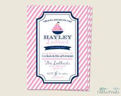Nautical Birthday Party Invitation by GlitterPrints on Etsy, $8.00